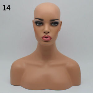 New Realistic Mannequin Head Display Fiberglass Hat Glasses Mold Stand Wig No 14