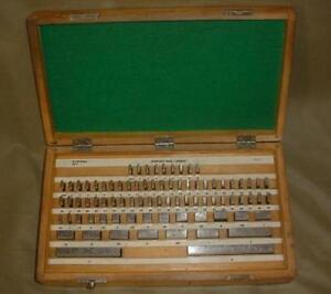 Hdt Machinist Gauge Block Complete Set 81 Pieces Workshop Grade B 000050