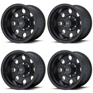 16x8 American Racing Ar172 Baja 6x5 5 6x139 7 0 Satin Black Wheels Rims Set 4