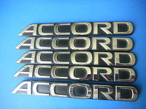90 93 Honda Accord Rear Trunk Script Emblem Logo Oem 1
