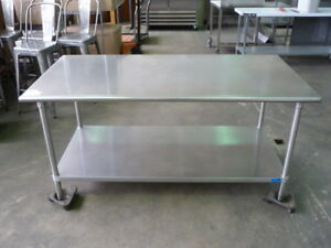 Used Stainless Steel Work Table island 6 X 36