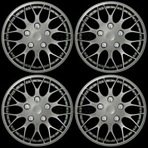 15 Set Of 4 Dark Gray Wheel Covers Snap On Hub Caps Fit On R15 Tire