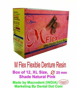 5 Mflex Box For Flexible Partial Dentures In Pink Color Xl Size Box