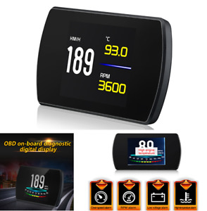 Car Tft Lcd Obd2 On board Computer Digital Speed Projector Smart Alarm System