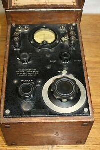 General Radio Megohm Bridge Type 544 b 299 Cambridge Mass Tubes All Light Up