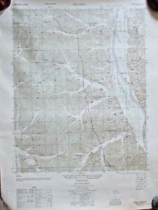 1951 Arial Photography Map Tharpe Tn Army Map Service Double Sided 22x29