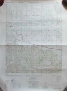 1951 Arial Photography Map Indian Mound Tn Army Map Service Double Sided