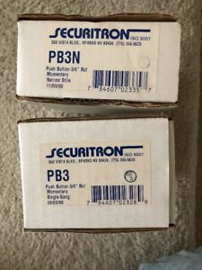 Securitron Push Button Switch Lot 2 Pb3 Pb3n 3 4 Rcl Momentary Iso 9001 Narrow