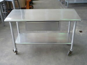 Used Stainless Steel Work Table 54 X 24