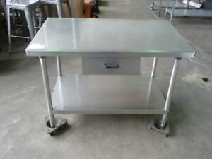 Used Stainless Steel Work Table 4 X 30