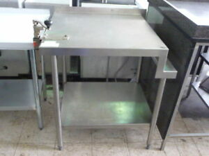 Used Stainless Steel Work Table 30 X 33 5