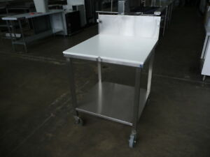 Used Stainless Steel Poly top Work Table 30 X 30