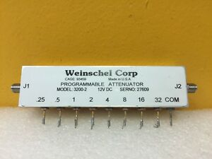 Weinschel 3200 2 Dc To 2 Ghz 63 75 Db Sma f Programmable Attenuator Tested