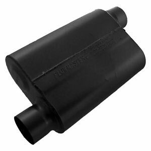 Flowmaster 40 Series 19 Long 3 Inch Offset In 3 Inch Offset Out Oval Muffler
