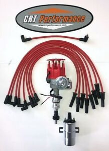 Ford Bb 351c m 400 429 460 Red Small Hei Distributor Coil 8mm Plug Wires Usa