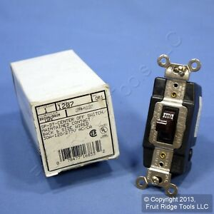 Leviton Brown Spdt Double Throw Maintained Toggle Contact Switch 30a 1287 Boxed