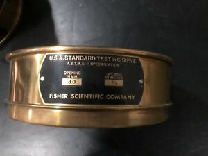 Vintage Testing Sieve Lot Of 6 U s a Standard Sieves By Fisher Scientific Co