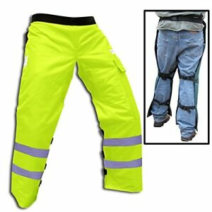 Forester Chainsaw Safety Chaps With Pocket Apron Style 35 Safety Green