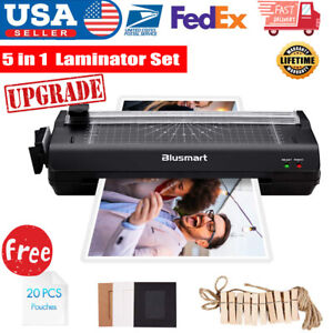 3 In 1 Laminator Machine Set With Paper Trimmer Cutter Corner Rounder Black