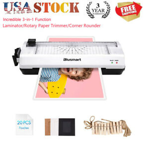 3 In 1 Ol288 Laminator Machine Set With Paper Trimmer Cutter Corner Rounder