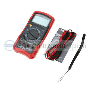 Uni t Ut51 Standard Dc ac Voltage Current Resistance Dmm Lcd Digital Multimeter