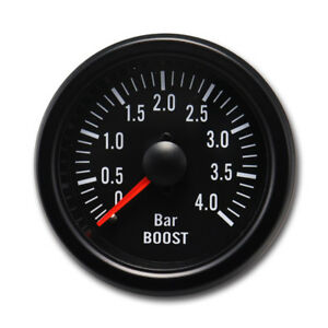 Taiwan Made 52 Mm Black Rim Black Face Mechanical Auto Turbo Boost Gauge 4 Bar