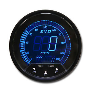 85 Mm Auto Digital Gps Speedometer 4 Color Lcd Display 12 V With Mounting Mph