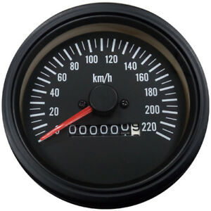 Taiwan Made 85 Mm Mechanical Speedometer With Build In Odometer Kmh