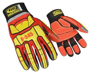 Ringers Gloves 345 Rescue Gloves Firefighter Extrication Gloves Small Red New