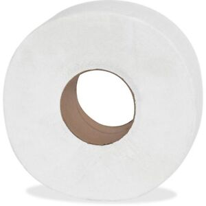 12 Pack Jumbo Large 9 Roll Toilet Paper Tissue 2 Ply Commercial Bathroom Office