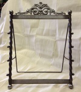 Brighton Museum Collection Store Display Counter Top Rack Metal Very Nice
