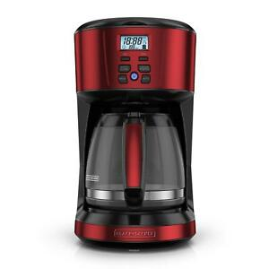 BLACK+DECKER 12-Cup Programmable Coffee Maker With Removable Water Reservoir Red
