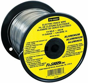 Aluminum Wire Electric Fence Contain Livestock Horse Conductor Spool 14 gauge