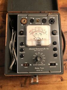 Accurate Instrument Co Model 161 Utility Tester Tube Capacitor Tester Ny Usa