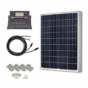 Hqst 100 Watts 12 Volts Polycrystalline Solar Panel Off grid Rv And Boat Kit