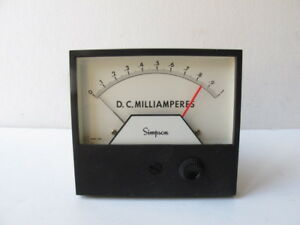 Simpson 21668 3324aixa Analog Panel Meter Relay 0 1 Milliamperes 4 1 2 Ssp