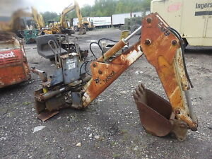 Bobcat 909 Backhoe Attachment Nice 743 Skid Steer Loader 742 742b Kubota