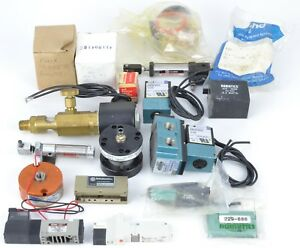 Lot Of Pneumatic Parts And Accessories Mixed Replacement Parts Numatics