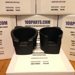2002 2007 Ford Focus Center Console Cup Holder Inserts Set Clean Pair