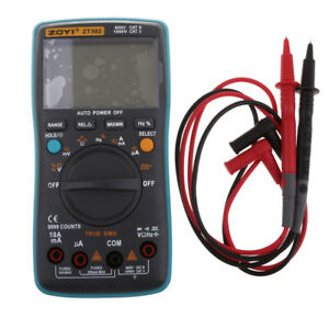 Zt302 Auto ranging 9999 Digital Multimeter Ac Dc Volt Amp Meter True Rms