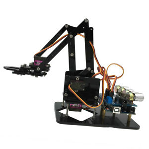 Deluxe Diy Acrylic 4 dof Rc Smart Robot Mechanical Arm W servos For Arduino