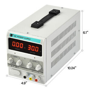 Suncoo 5a 30v Dc Power Supply Adjustable Variable Dual Digital Test Lab