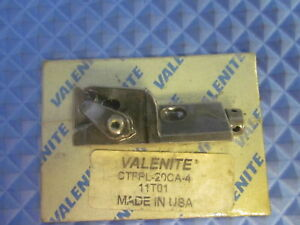 Nos Valenite Indexable Insert Cartridge Ctfpl 20ca 4 Free Shipping