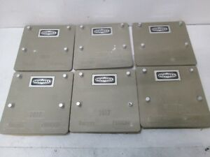 Lot Of 6 Hubbell Quazite Pencell Underground Enclosure Cover Lid 2017 10 X 10