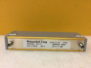Weinschel 151 11 Dc To 4 Ghz 0 To 11 Db 3 5mm f Programmable Attenuator New