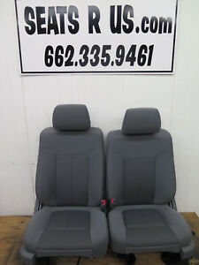 2008 2009 2010 2011 2012 Ford F150 Front Cloth Bucket Seats Power Gray Cloth
