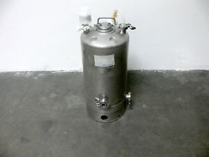Alloy Products 40 L Stainless Steel Pressure Vessel 115 Psi Sartorius Filters
