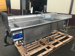Power Soak Pss108 3 Compartment Sink