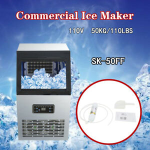 Undercounter Commercial Ice Maker 110lbs 230w 110v Ice Cube Machine 50kg Auto