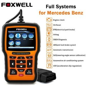 Foxwell Nt510 For Benz Airbag Abs Sas Diagnostic Scanner Tool Fault Code Reader